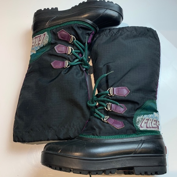 Sorel freestyle black tall winter boots size 7